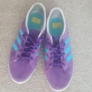 Purple w/Baby Blue Striped Adidas